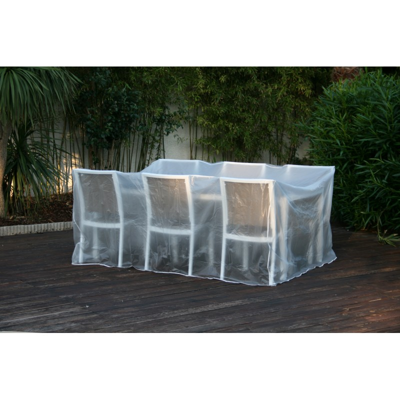 housse de protection plastique pour table de jardin rectangulaire. Black Bedroom Furniture Sets. Home Design Ideas